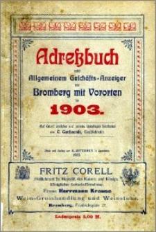 Adressbuch nebst allgemeinem Geschäfts-Anzeiger von Bromberg und dessen Vororten auf das Jahr 1903 : auf Grund amtlicher und privater Unterlagen