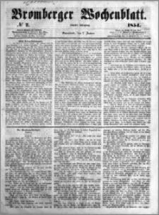Bromberger Wochenblatt 1854.01.07 nr 2