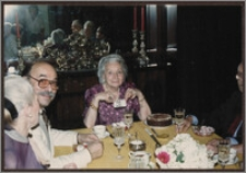 Wanda Poznańska świętuje 91. urodziny w swoim mieszkaniu w Montrealu, 23 lipca 1989