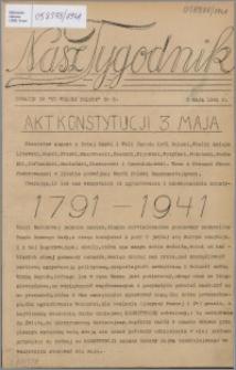 Nasz Tygodnik : dodatek do Ku Wolnej Polsce 1941, nr 3