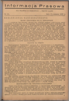 Informacja Prasowa 1946.06.13, nr 14