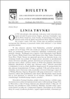 Biuletyn Koła Miłośników Dziejów Grudziądza 2021, Rok XIX nr 23 (701) : Linia Trynki