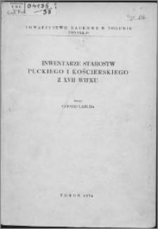 Inwentarze starostw puckiego i kościerskiego z XVII wieku