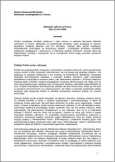 Biblioteki cyfrowe w Polsce. Stan z roku 2006