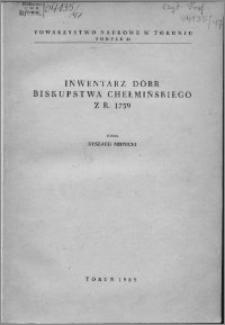 Inwentarz dóbr biskupstwa chełmińskiego z r. 1759