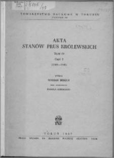 Akta Stanów Prus Królewskich. T. 4, cz. 2, (1504-1506)
