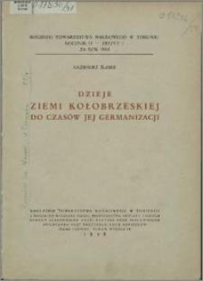 Dzieje ziemi kołobrzeskiej do czasów jej germanizacji