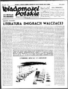 Wiadomości Polskie, Polityczne i Literackie 1940, R. 1, nr 1