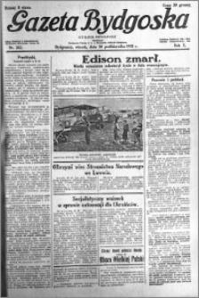 Gazeta Bydgoska 1931.10.20 R.10 nr 242