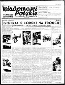 Wiadomości Polskie, Polityczne i Literackie 1940, R. 1, nr 13