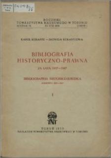 Bibliografia historyczno-prawna za lata 1937-1947 = Bibliographia historico-juridica annorum 1937-1947. 1