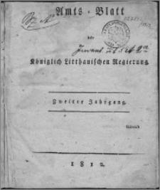 Amts-Blatt der Königlichen Litthauischen Regierung 1812, R. 2