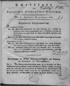 Amts-Blatt der Königlichen Litthauischen Regierung 1814, R. 4