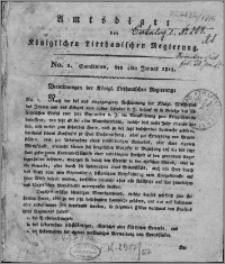 Amts-Blatt der Königlichen Litthauischen Regierung 1815, R. 5