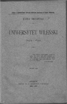 Uniwersytet Wileński (1579-1831) T. 3