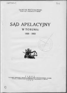 Sąd Apelacyjny w Toruniu 1920-1933
