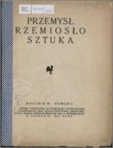 Przemysł, Rzemiosło, Sztuka 1924, R. 4, nr 1