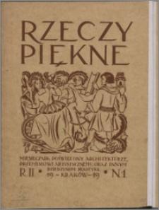 Rzeczy Piękne 1919, R. 2, nr 1