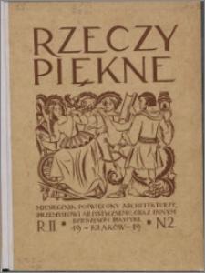 Rzeczy Piękne 1919, R. 2, nr 2