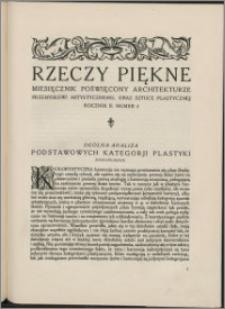 Rzeczy Piękne 1919, R. 2, nr 4