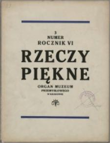 Rzeczy Piękne 1927, R. 6, nr 3
