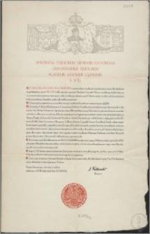 Universitas Studiorum Vilnensis Bathoreana Universitatibus Studiorum Acaddemiis Athenaeis Gymnasiis S[ub] P[raesidio] D[ivino] [podpis] C. Falkowski Rector.