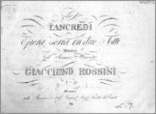 Tancredi. Opera seria in due atti. Musica del Signore Maestro Giacchino Rossini. Quartetto. (Nro 4)