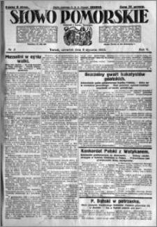 Słowo Pomorskie 1925.01.08 R.5 nr 5