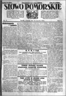 Słowo Pomorskie 1925.01.22 R.5 nr 17