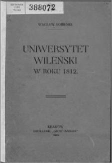 Uniwersytet Wileński w roku 1912