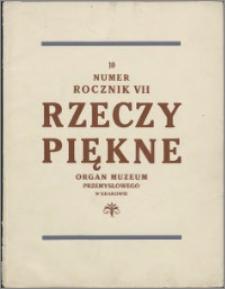 Rzeczy Piękne 1928, R. 7, z. 10