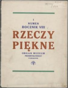 Rzeczy Piękne 1929, R. 8, z. 1