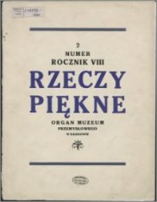 Rzeczy Piękne 1929, R. 8, z. 2