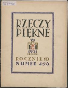 Rzeczy Piękne 1931, R. 10, z. 4-6