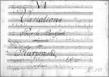 VI Variations Pour le Pianoforte composeés par Kurpiński