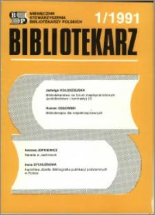 Bibliotekarz 1991, nr 1
