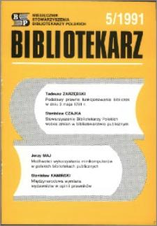Bibliotekarz 1991, nr 5