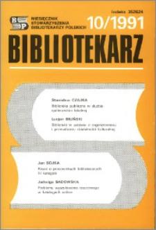 Bibliotekarz 1991, nr 10