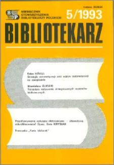 Bibliotekarz 1993, nr 5
