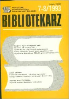 Bibliotekarz 1993, nr 7-8