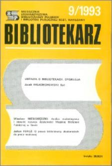 Bibliotekarz 1993, nr 9