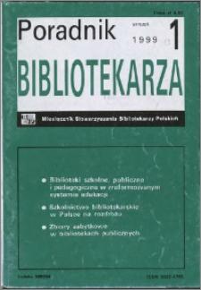 Poradnik Bibliotekarza 1999, nr 1