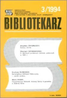 Bibliotekarz 1994, nr 3