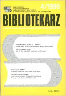 Bibliotekarz 1995, nr 4
