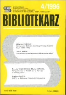 Bibliotekarz 1996, nr 4