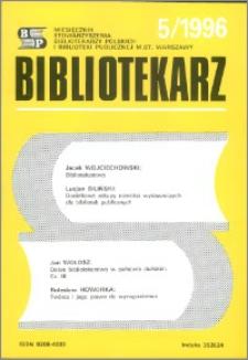 Bibliotekarz 1996, nr 5