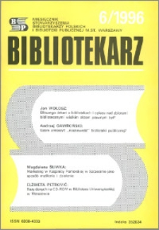 Bibliotekarz 1996, nr 6