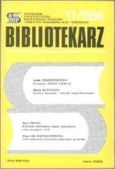 Bibliotekarz 1996, nr 11