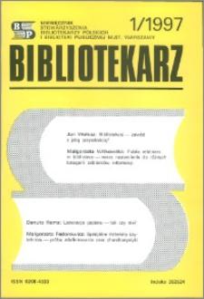 Bibliotekarz 1997, nr 1