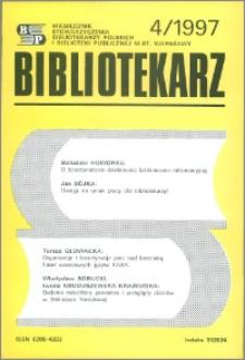 Bibliotekarz 1997, nr 4